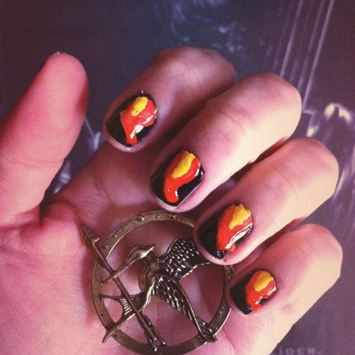 Nail Art: Unhas de Jogos Vorazes