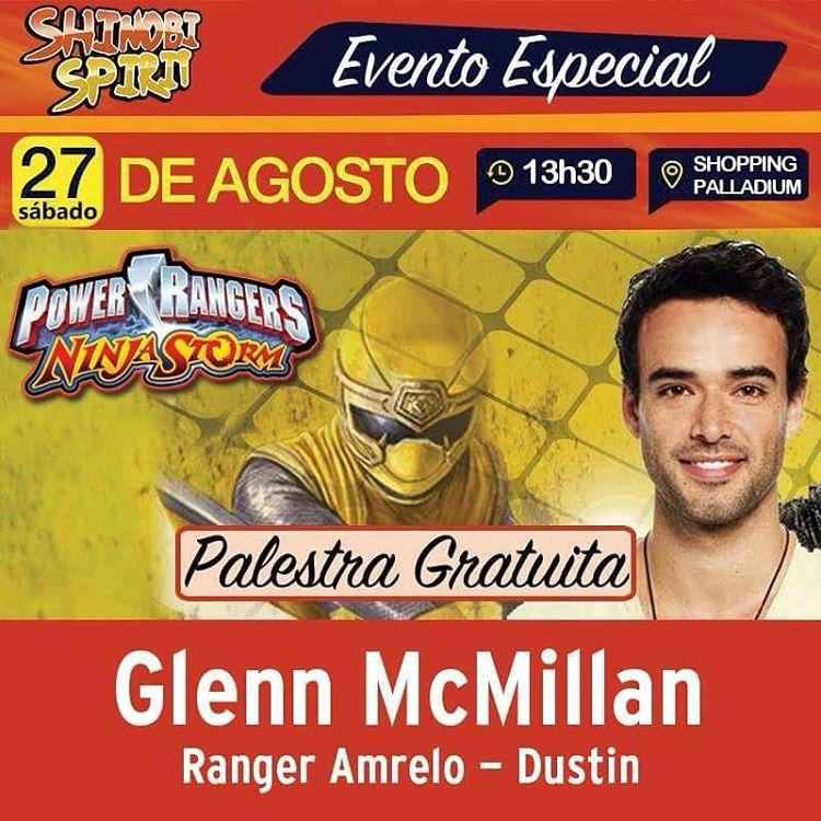 Shinobi Convida: Glenn McMillan, o Power Ranger Amarelo